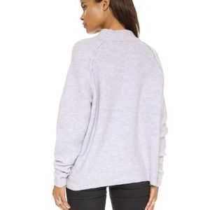 Free People Lavender Bubble Crew Sweater S